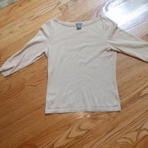 Ann Taylor 3/4 Sleeve Lightweight Sweater